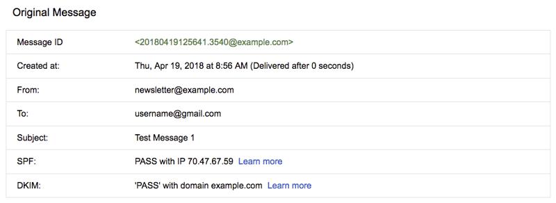 Google Web Mail Interface - Original Message